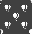 Balloon Icon sign Seamless pattern on a gray vector image vector image