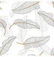 banana leaves seamless pattern background vector image vector image