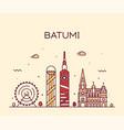 batumi skyline georgia city linear style vector image vector image