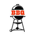 Bbq grill on white background design element for