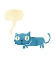 cartoon cat with speech bubble vector image