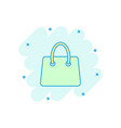 cartoon shopping bag icon in comic style shop vector image vector image
