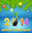 Christmas background with inscription and seed vector image vector image