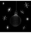 Christmas decoration ball Polygon triangle vector image vector image