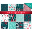 collection twelve hand drawn winter holidays vector image vector image