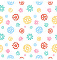 colorful mechanical seamless pattern vector image