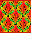 colorful ornamental floral 3d seamless pattern vector image