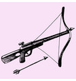 crossbow and arrow vector image vector image