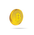 cryptocurrency coin in gold vector image vector image