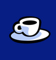 cup morning coffee drawing for logo vector image