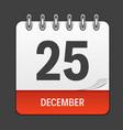 december 25 calendar daily icon vector image