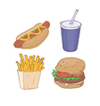 Drawn Fast Food vector image