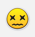 emoticon with cross eyes for expressing emotion vector image