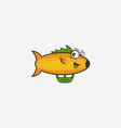 fish character logo vector image vector image
