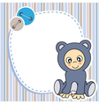 Framework for baby boy vector image vector image