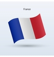 France flag waving form vector image vector image