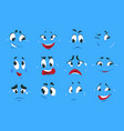 funny cartoon expressions evil angry faces crazy vector image vector image