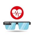glasses technology heart pulse application media vector image vector image