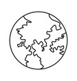 globe world earth map geography icon vector image vector image