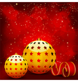 gold christmas baubles vector image vector image