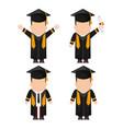 graduation cap boy graduate university icon vector image
