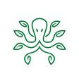 green octopus logo vector image