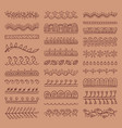 hand drawn dividers set vector image