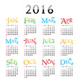 happy new year calendar 2016 vector image vector image