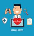 health insurance service concept vector image