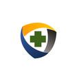 health shield logo design template vector image