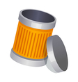 icon trash can vector image vector image