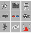 icons set Cinema vector image vector image