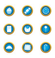 impact of sugar icons set flat style vector image vector image