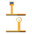 industrial cargo weight scales vector image