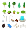 Isometric City Facilities Different Urban Stuff vector image vector image
