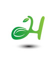 leaf letters symbols vector image vector image