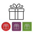 line icon of gift box vector image vector image