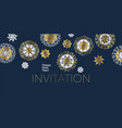 luxury elegant gold and white star and snowflakes vector image vector image