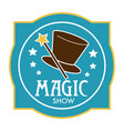 magic wand and cylinder hat isolated icon vector image