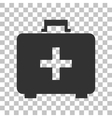 Medical First aid box sign Dark gray icon on vector image vector image