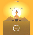 meditation girl morning vector image vector image