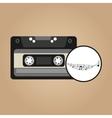 music cassette vintage background desgin vector image vector image