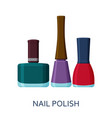 nail polish set cosmetic icons collection vector image