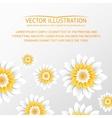 Paper flowers postcard vector image