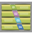 Paper numbered banners design template vector image vector image