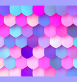 pastel colorful mosaic trendy design with papercut vector image vector image