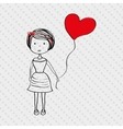 person drawing design vector image vector image
