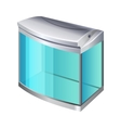 Plastic or glass rectangular container for use as vector image