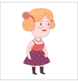 Pretty girl Dodo people collection vector image vector image