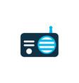 radio icon colored symbol premium quality vector image vector image